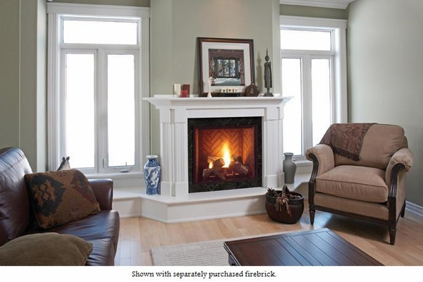 Majestic 42 Onyx Direct Vent Gas Fireplace With Signature Command Controls Propane Gas