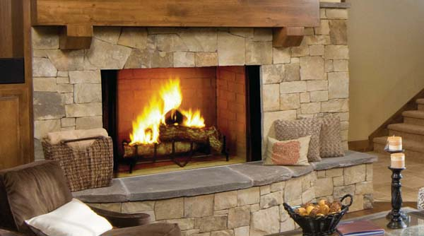 Majestic Biltmore Radiant Wood Burning Fireplace 50 Inch