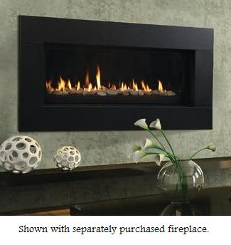 Majestic Contemporary Textured Black Fireplace Face - For 60 Inch Echelon Wide View Direct Vent Gas Fireplaces This contemporary fireplace face is the perfect decorative trim for your 60 in. Echelon wide view direct vent gas fireplace. This black texture