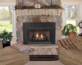 empire medium innsbrook ventfree gas fireplace insert with built in thermostat