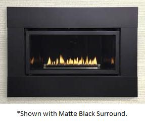 Medium Loft Direct Vent Gas Fireplace with Remote-Ready Millivolt ...
