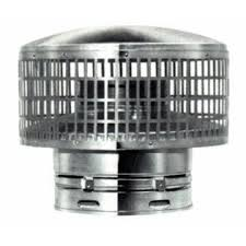 Metal fab type b round chimney vent cap for 7 inch for Outdoor fireplace spark arrestor