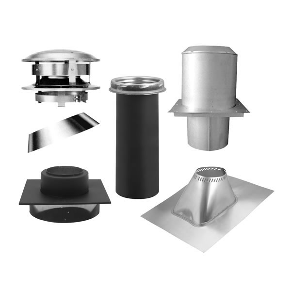 MetalBest Ultra-Temp 8 Inch Diameter Chimney Pipe Flat Ceiling Support Kit - Ultra-Temp 8 Inch Diameter Chimney Pipe Flat Ceiling Support Kit