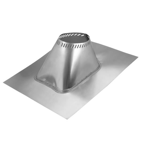 MetalBest Ultra Temp 8 Inch Diameter Chimney Pipe Roof Flashing    Adjustable   For 2/12 To 6/12 Pitch