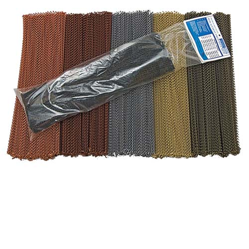 Metaltone Antique Copper Fireplace Mesh Panel Replacement Kit 24 Inch X 21 Inch