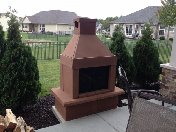 Captivating Mirage Stone Open Face Outdoor Woodburning Fireplace With Adjustable BBQ  Rack