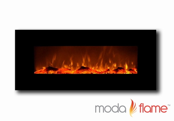 Moda Flame MFE5050BK Houston 50 Inch Electric Wall Mounted