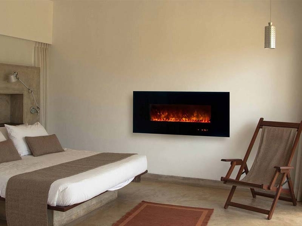 Modern Flames Al Series 58 Inch Ambiance Wall Mount Electric Fireplace Bg2