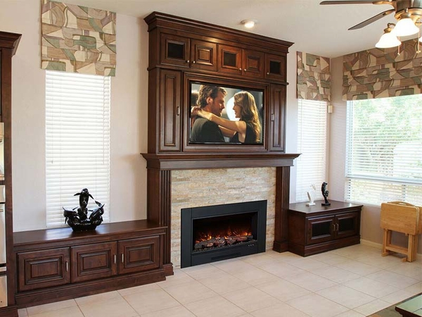 Modern Flames ZCR Series Electric Fireplace Insert with Trim - ZCR-3824 Do you have an existing wood-burning fireplace that it is time to upgrade? Gas and wood-burning fireplaces are a thing of the past. Why bother with the cost