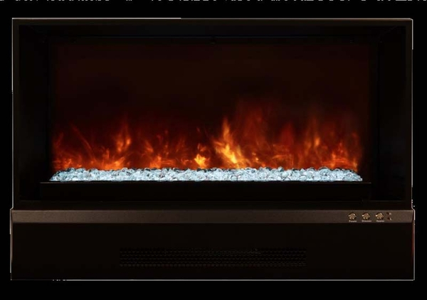 Modern flames zcr series electric fireplace insert with trim zcr 3824 - Contemporary electric fireplace insert accessories ...