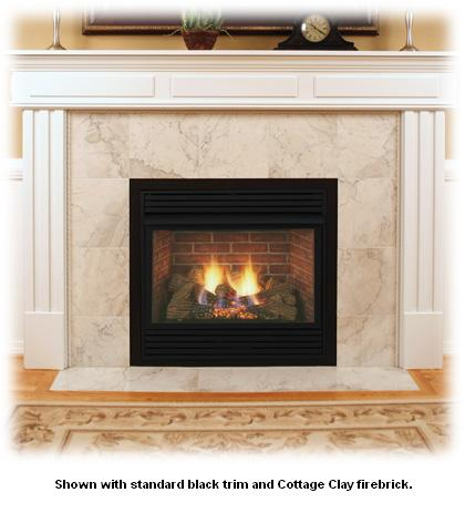 Monessen Dfs32c 32 Inch Vent Free Fireplace System With Triple Play Burner And Charred Timber