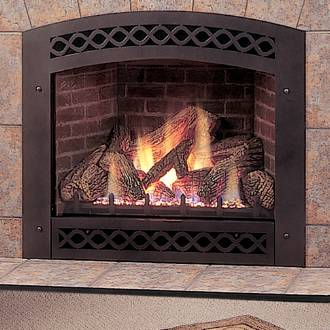 Lexington Black Arched Front for LX36 Direct Vent Fireplaces