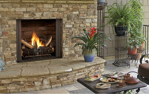 Outdoor Lifestyles Carolina 42 Inch Ventless Outdoor Gas Fireplace
