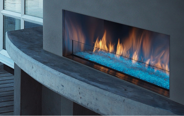 Monessen Outdoor Lifestyles Palazzo 48 Inch Outdoor Ventless Linear Gas Fireplace