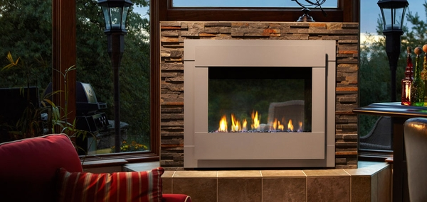 Monessen Outdoor Lifestyles Twilight II Modern Gas Fireplace - 36 Inch