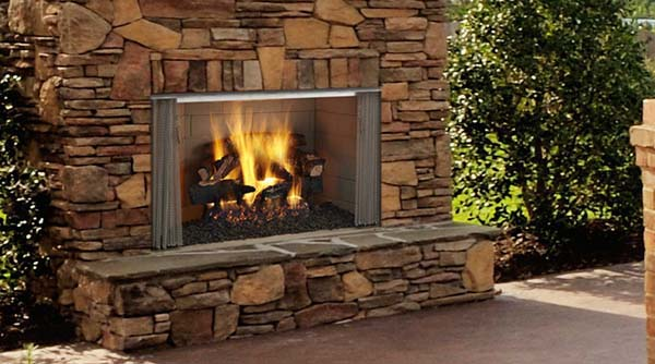 Monessen Villawood Outdoor Wood Burning Fireplace 36 Inch