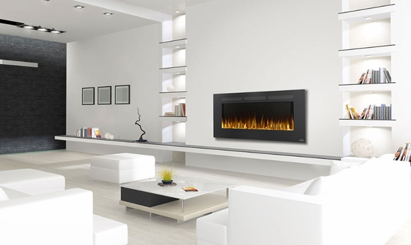 Napoleon Allure 50 Inch Electric Fireplace with Heater - NEFL50FH The Napoleon Allure 50 Electric Fireplace can be simply installed without the need for a specialist or gas fitter. All you need to do is hang it on the wall and plug it in for an instant update to any room.