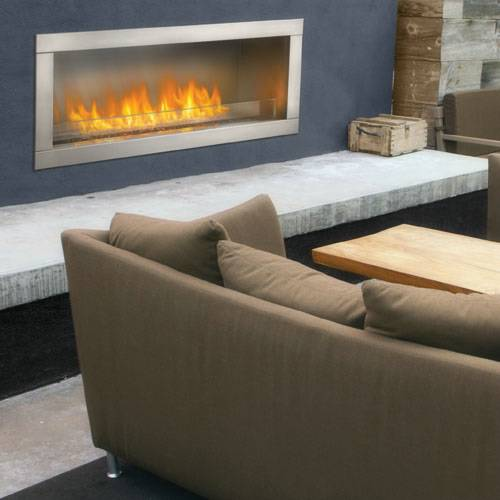 Napoleon GSS48 Galaxy Series 1-Sided Outdoor Linear Gas Fireplace Contemporary design and technology has updated the way we enjoy the look and feel of a fireplace in our homes. No longer do you need to deal with sparks and smoke