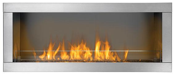 GSS48 Galaxy Series 1-Sided Outdoor Linear Gas Fireplace