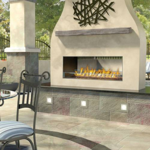 Napoleon GSS48ST Galaxy Series See Thru Outdoor Linear Gas Fireplace Modern technology and sleek