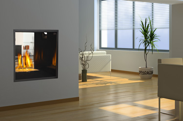 Napoleon hd81 high definition see thru direct vent gas for See thru fireplaces