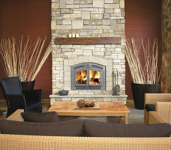 Napoleon High Country NZ3000H Wood Burning Fireplace With this wrought iron designed fireplace from Napoleon