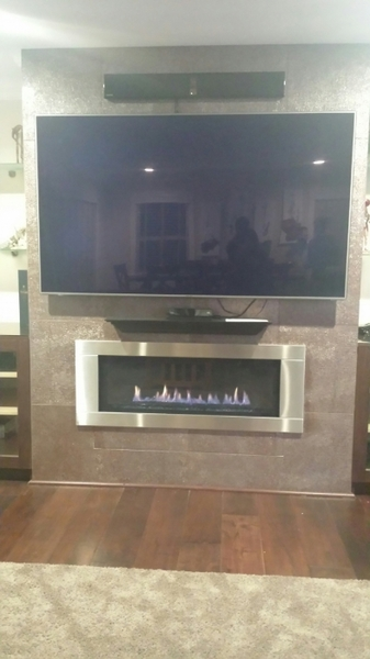LHD45 Linear Series Gas Fireplace - LHD45NSB