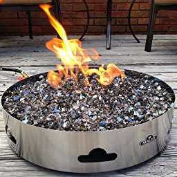 Perfect Napoleon Patioflame Stainless Steel Outdoor Firepit With Topaz Glass