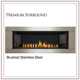 Napoleon Premium Stainless Steel Four Sided Fireplace Surround With Safety Screen For Lhd45