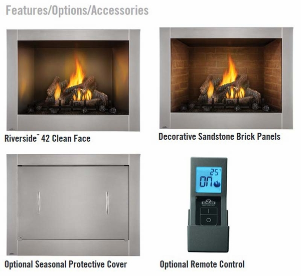 riverside series 42 clean face outdoor stainless steel gas
