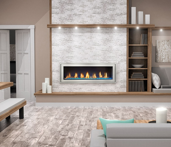 Napoleon Vector LV50N2 See-Thru Direct Vent Linear Gas Fireplace The new Vector LV50N2 See-Thru Linear Gas Fireplace from Napoleon is the latest center piece in total fireplace design. With the new Divinity flame pattern burner system