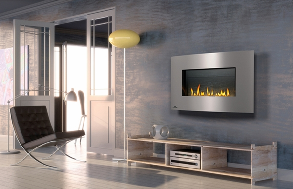 Gas Wall Fireplaces. Napoleon WHD31NSB Plazmafire Direct Vent Wall Mounted Gas Fireplace