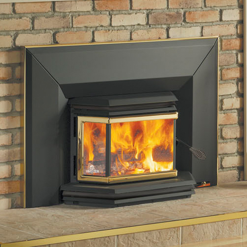 Osburn 1800 High Efficiency EPA Bay Window Woodburning Insert with Blower This high efficiency woodburning insert from Osburn creates 65