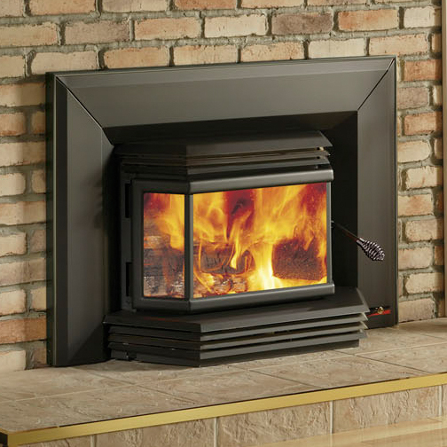 2200 High Efficiency EPA Bay Window Woodburning Insert with Blower
