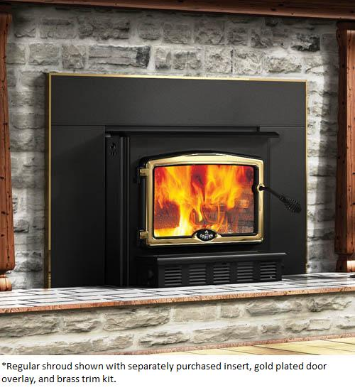 Osburn Large Fireplace Insert Shroud For Osburn 2000 High Efficiency Epa Wood Burning