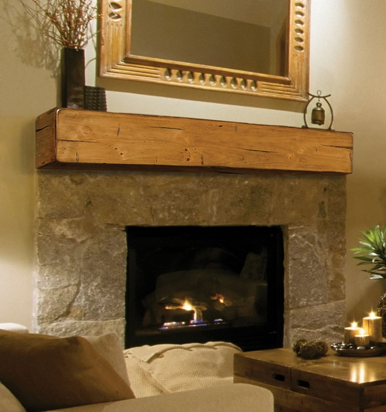 Mantels 496 Lexington Wooden Fireplace Mantel Shelf
