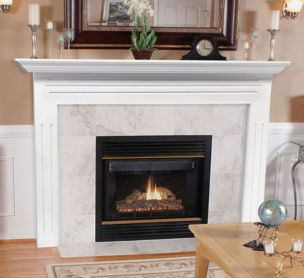 Pearl Mantels 510-48 Newport MDF Fireplace Mantel in White More than just a piece of trim or an accent