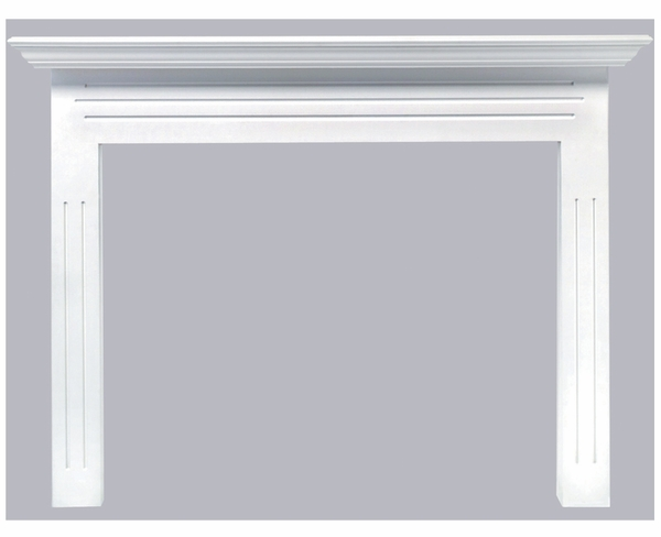 Mantels 510-48 Newport MDF Fireplace Mantel in White