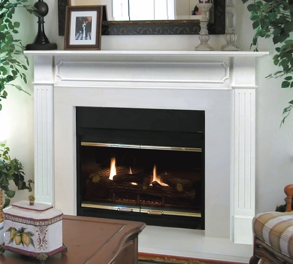 Pearl Mantels 520 48 Berkley Mdf Fireplace Mantel In White