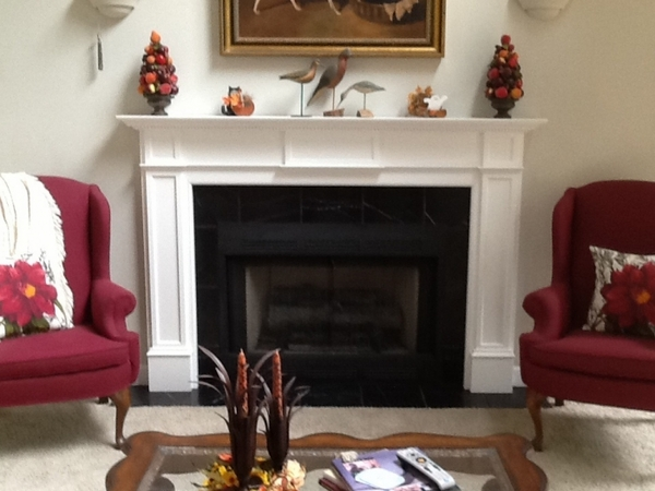 Pearl Mantels 530 Monticello MDF Fireplace Mantel in White For those who love the most traditional styled fireplace