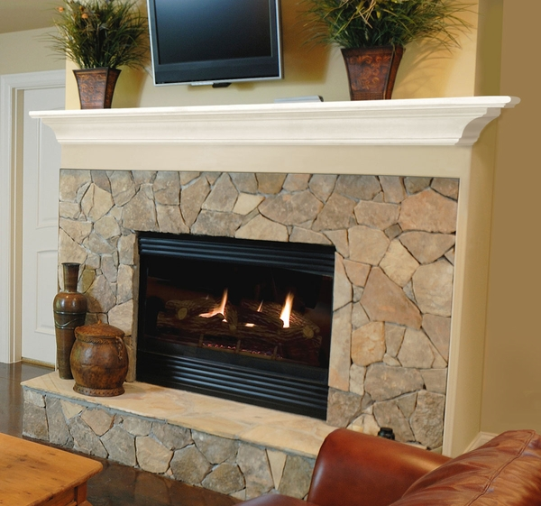 Pearl Mantels 618 Crestwood MDF Fireplace Mantel Shelf in White - Mantels 618 Crestwood MDF Fireplace Mantel Shelf In White