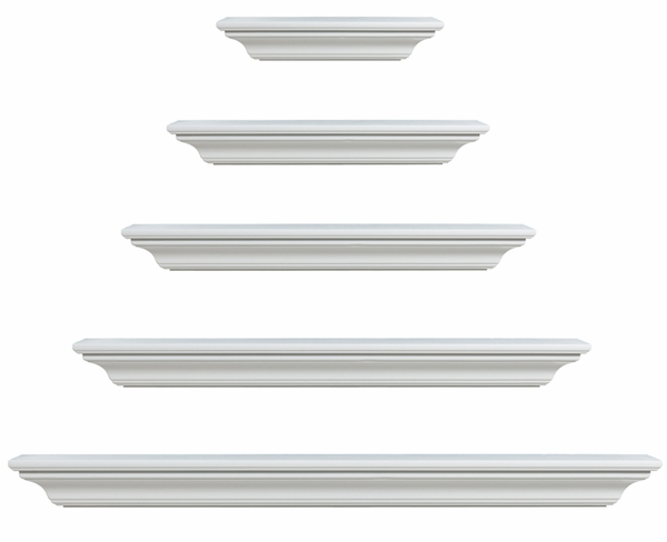 Mantels 618 Crestwood MDF Fireplace Mantel Shelf in White