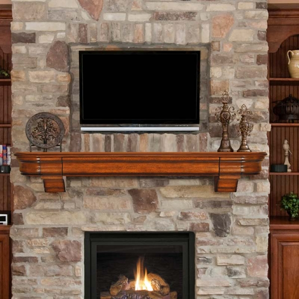 Fireplace mantel shelf 48 inches