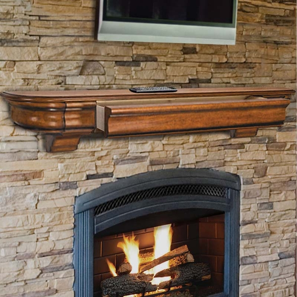Pearl Mantels Abingdon 48 Inch Fireplace Mantel Shelf - 415-48-50 Pearl Mantels knows exactly the features you are looking for in a fireplace mantel. The beauty of a delicately carved