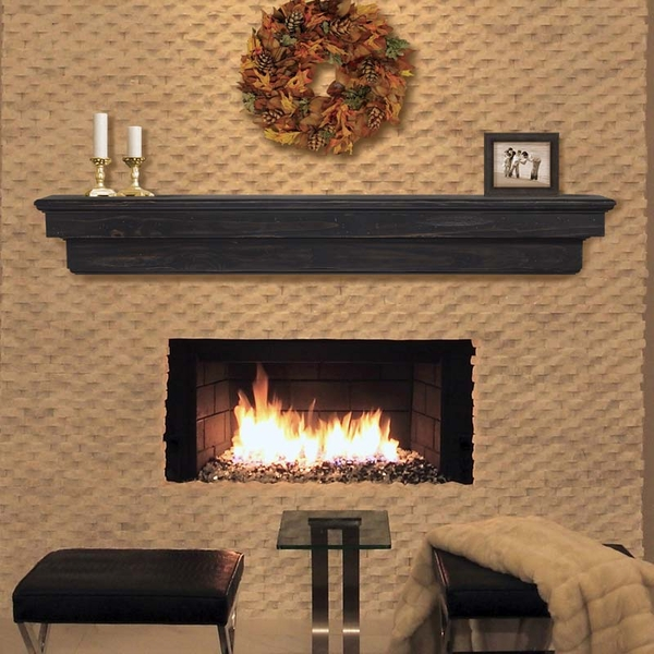Pearl Mantels Celeste 48 Inch Fireplace Mantel Shelf - 497-48-10 Pearl Mantles has created the perfect mantel shelf for your home. Designed using New Zealand Pine and available in an unfinished wood