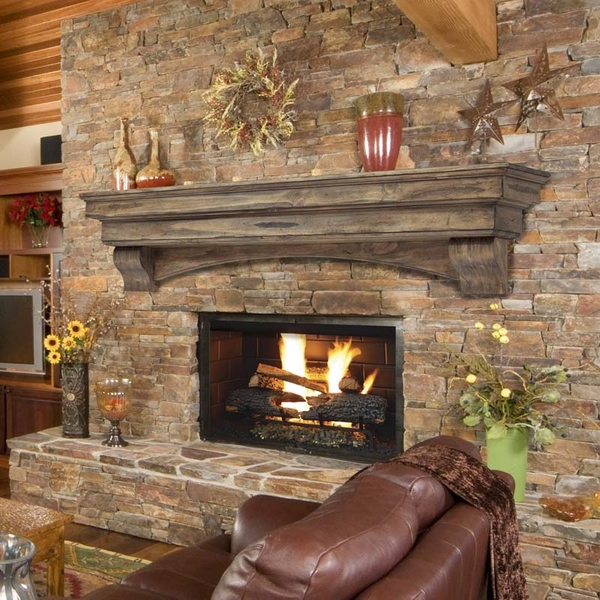 Pearl Mantels Celeste 48 Inch Fireplace Mantel Shelf 497