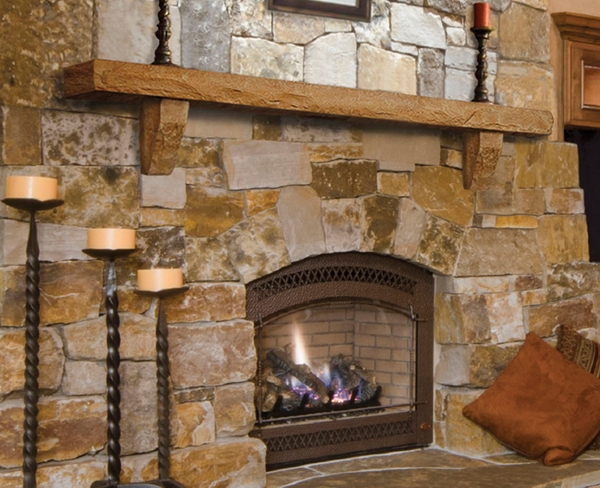 Pearl Mantels Perfection Cast Stone Mantel Shelf Natural Stone Simulation A Cast Stone Mantel by Pearl Mantels is a perfect compliment to any rustic styled room or stone surround. These handmade mantels are crafted to look like real stone
