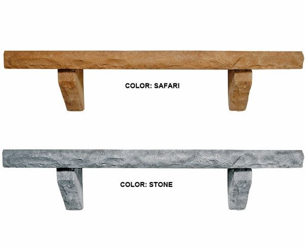 Pearl Mantels Perfection Cast Stone Mantel Shelf Natural Stone Simulation - Mantels Perfection Cast Stone Mantel Shelf Natural Stone Simulation