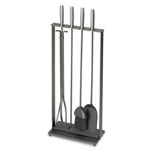 Pilgrim 5 Piece Modern Matte Black Fireplace Tool Set This thoroughly Modern Matte Black Fireplace Tool Set by Pilgrim