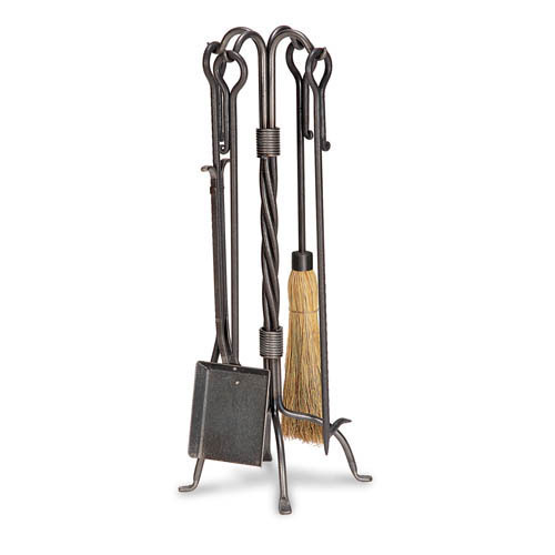 Pilgrim 5 Piece Traditional Vintage Iron Fireplace Tool Set